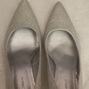 Silver heels size 10